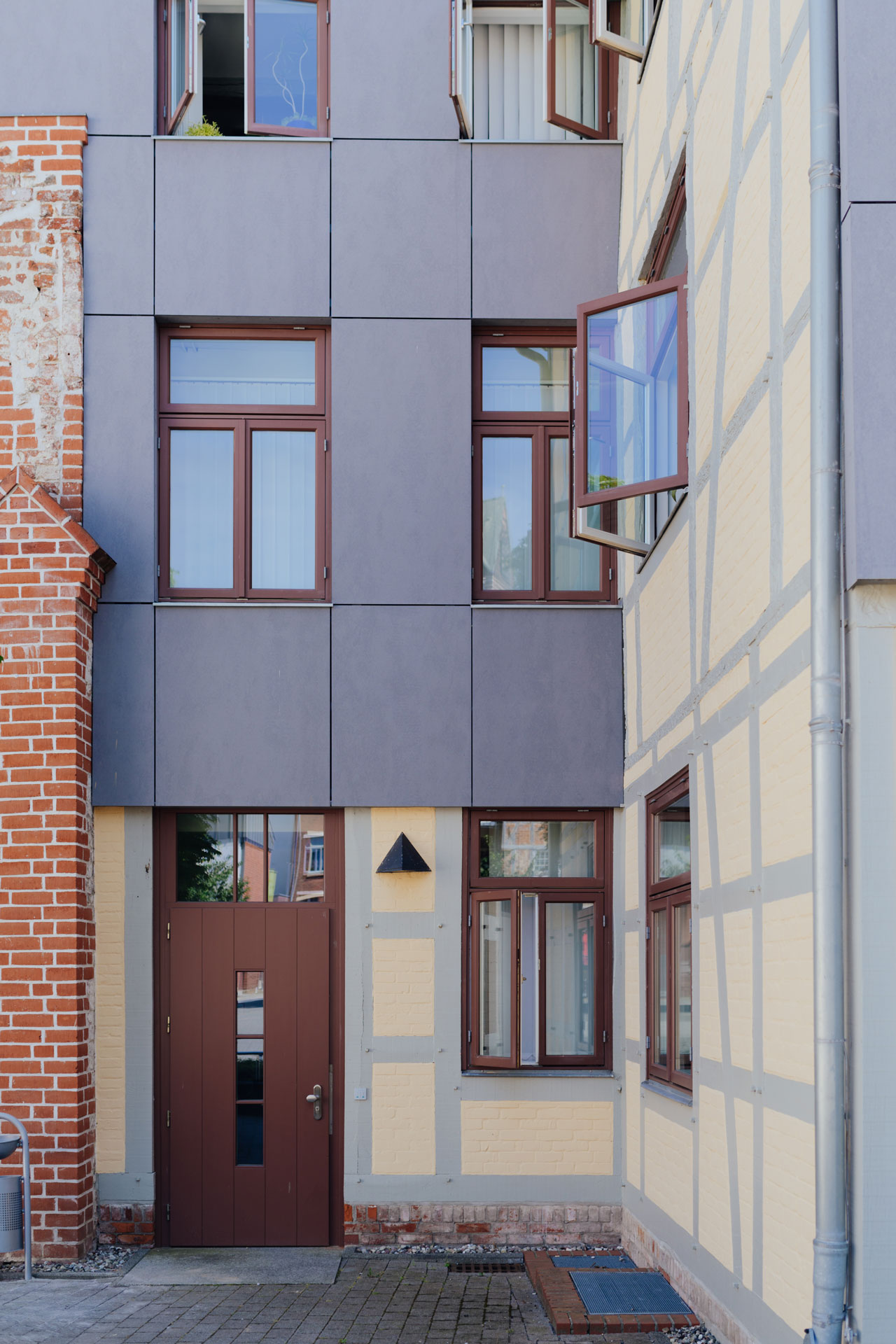 Geschäftshaus in Wismar / Nahaufnahme