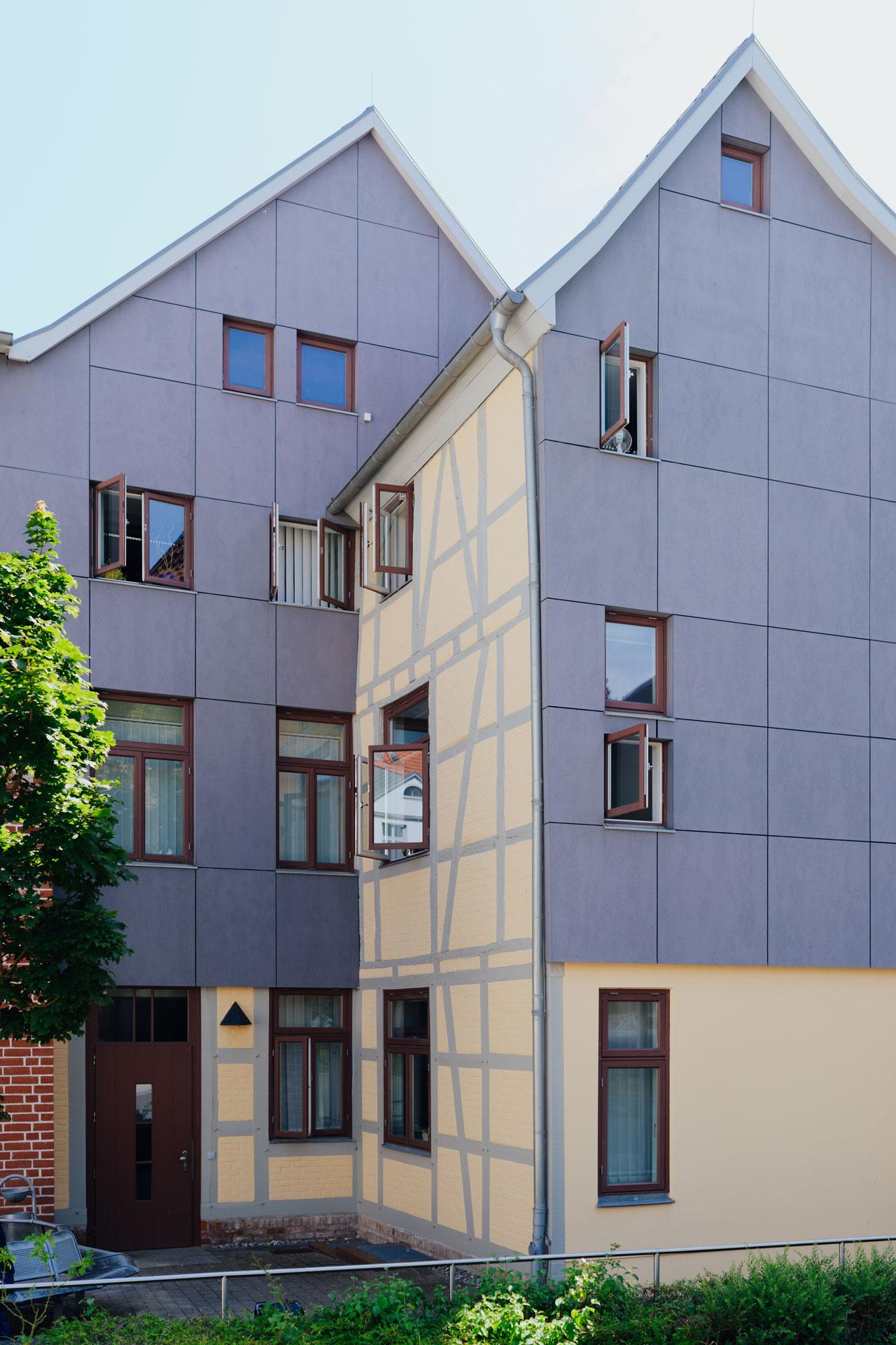 Geschäftshaus in Wismar / Totale