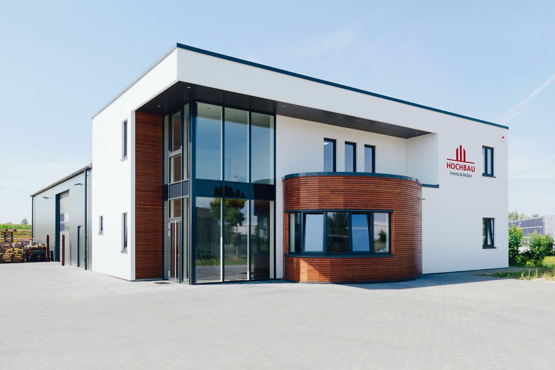 Firmengebäude in Wismar / Totale