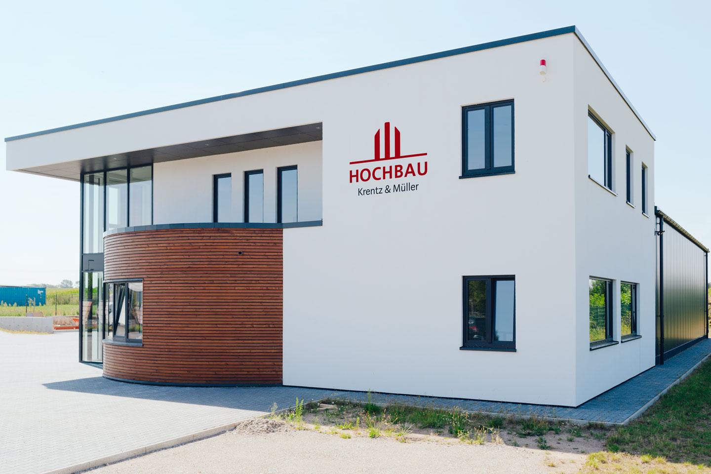 Firmengebäude in Wismar / Nahaufnahme