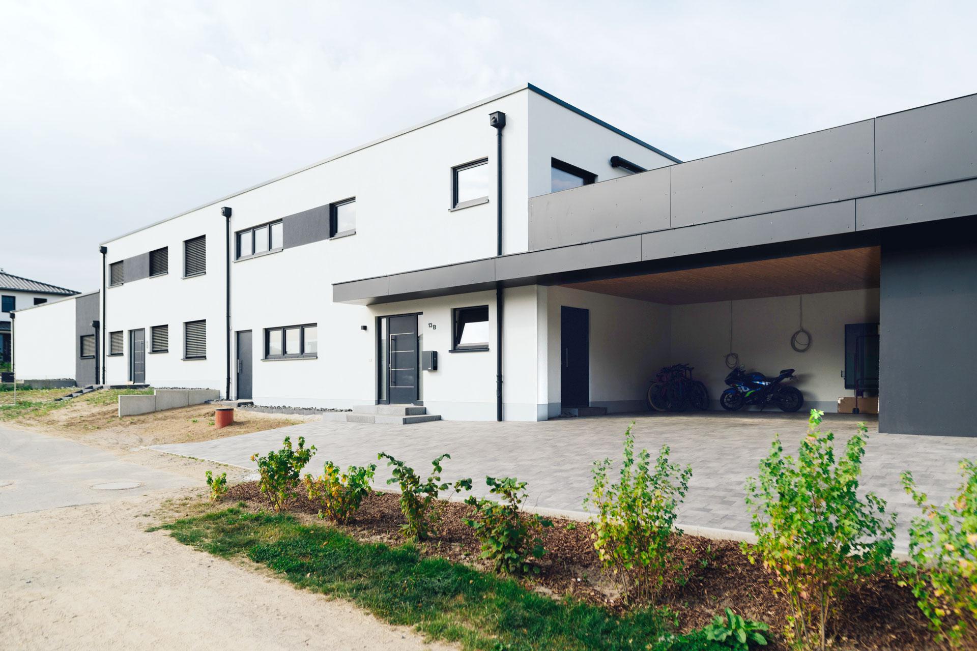 Doppelhaus in Wismar (01) / Totale