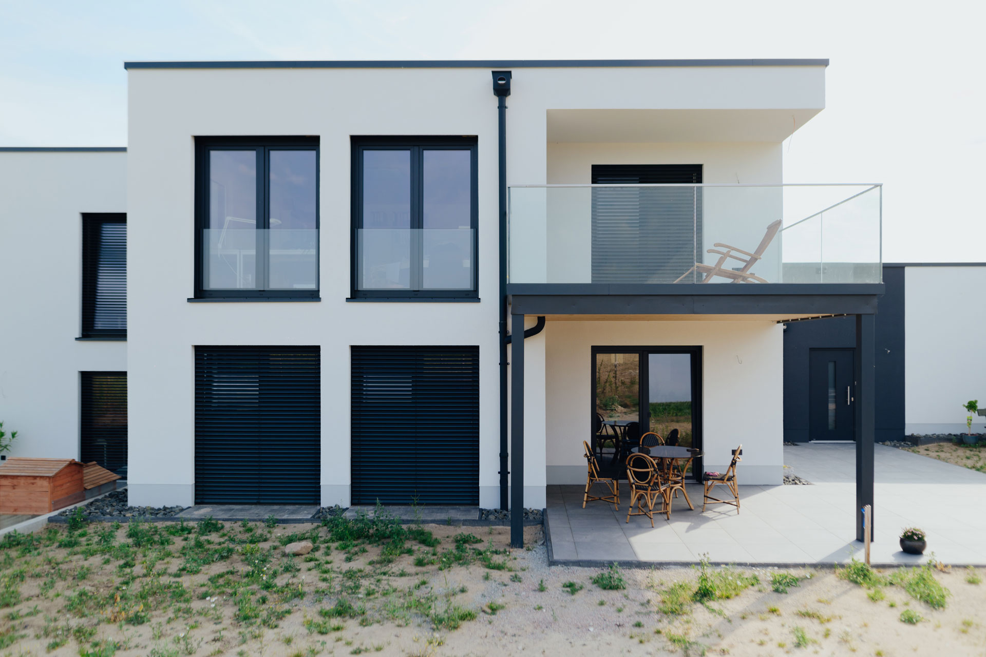 Doppelhaus in Wismar (01) / Nahaufnahme frontal