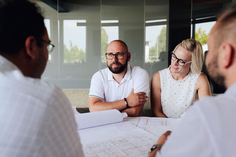 Besprechung mit Kunden