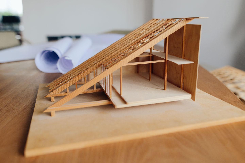 Model aus Holz
